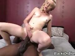 Miley May's return to our network has her going against the biggest cock in porn--Mandingo!...